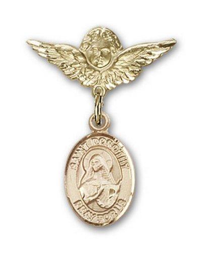 Icecarats Or Bijoux De Créateurs Rempli R. Dorothy Charme Ange Broche De Badge 1 X 3/4