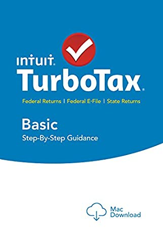 TurboTax Basic 2015 Federal + Fed Efile Tax Preparation Software - Mac Download [Old Version]