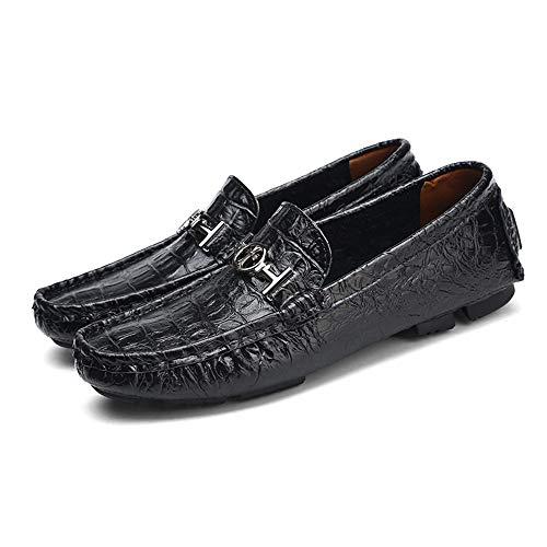 Gommino Zapatos Negro cm de para Piel tamaño Mocasin cm 5 Azul Azul Hombre auténtica 40 diseño Corte Mocasin de 24 Piel EU Gommino único Negro marrón 30 bajo Color Zgsjbmh BwxdUU