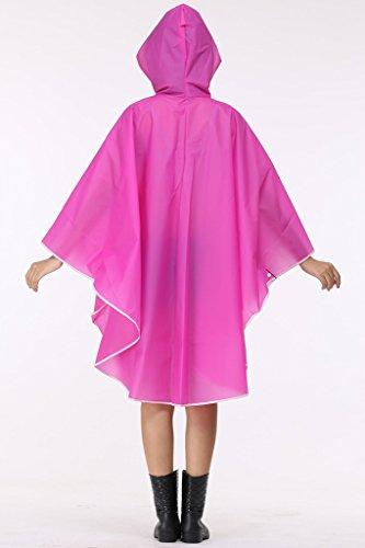 Cokar Regenponcho Damen Wasserdicht transparent muster Regenjacke Poncho Cape Mit Kapuze Durchsichtig Unisex Gelbrot