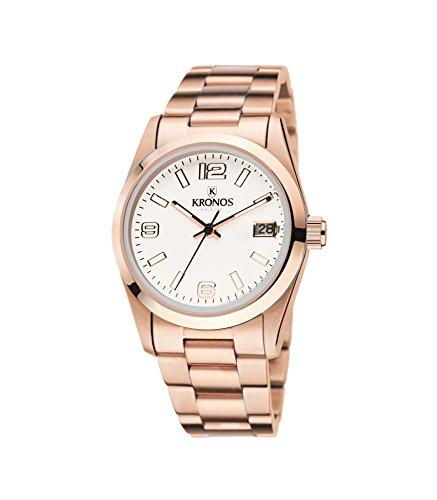 Kronos - Elegance Rose 968.9.34 - Reloj unisex de cuarzo, brazalete de acero
