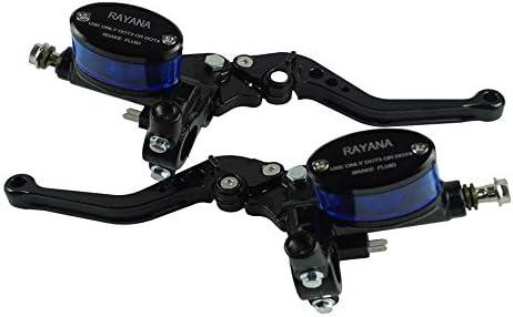 CBFYKU 1 Par 7/8 Depósito de Motocicleta Universal Palanca de Embrague hidráulico Freno Cilindro Maestro Manija de la Bomba Ajustable (Color : Negro)