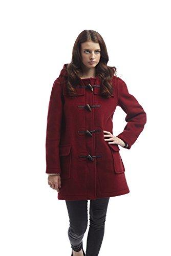 Coat Burgundy Ladies Duffle Ladies Coat Classic Ladies Duffle Burgundy Classic AxzwUdqFHH