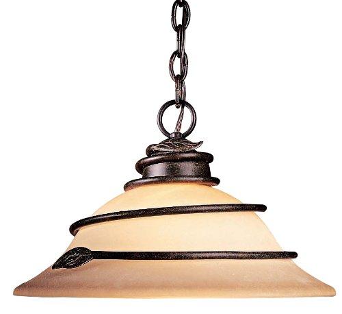 Minka Lavery 176-1-138, Aspen II Cone Pendant, 1 Light, 100 Total Watts, (138 Aspen Bronze Finish)