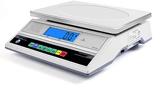 LHHL High Precision 0.1g Counting Scales Stainless Steel Digital Electronic Lndustrial Weighing Platform Scales With LCD Display For Drug Food Coffee (Color : White, Size : 30kg/0.1g)