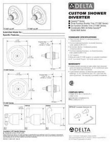 Stainless Delta T11897-SSLHP Cassidy 3 Function Diverter Trim ...