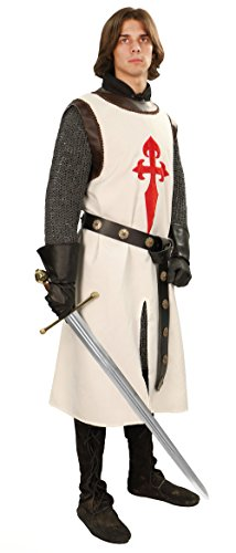 Museum Replicas Jerusalem Knight's Tunic Medieval Surcoat Costume (Small/Medium)