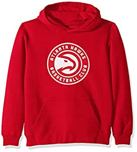 """NBA by Outerstuff NBA Youth Boys Atlanta Hawks""""Primary Logo"""" Classic Hoodie, Red, Youth Small(8)"""