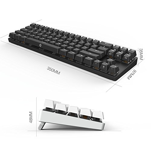 DREVO Calibur 71-Key RGB LED Backlit Wireless Bluetooth 4.0 / Wired USB Gaming Mechanical Keyboard Brown Switch-Black