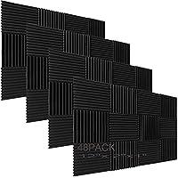 48 stuks akoestisch schuimpaneel wig studio geluidsisolatie wandtegels 30,5 x 30,5 x 2,5 cm