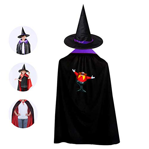 Doctor-Egg Halloween Costumes Witch Wizard Cloak With Hat For Christmas Halloween Cosplay Boys Girls Purple
