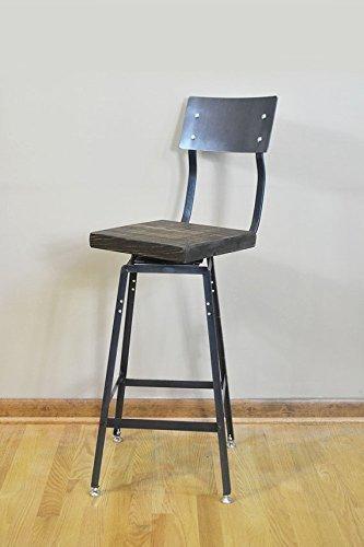 Reclaimed Salvaged Barn Wood Industrial Bar Stool Chair