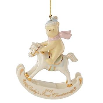 Amazon.com: Lenox 2012 Winnie the Pooh Babys primera Navidad ...