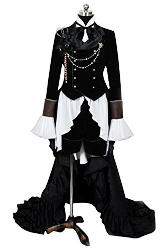 Ya-cos Kuroshitsuji Black Butler Ciel Phantom Cosplay Costume Outfit Suit Dress Gown
