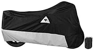 Nelson-Rigg Defender 400/500 Motorcycle Cover, All-Weather, Waterproof, UV, Air Vents, Heat Shield, Windshield Liner, Compression Bag, Grommets, Large Fits most Sport Touring and Cruisers