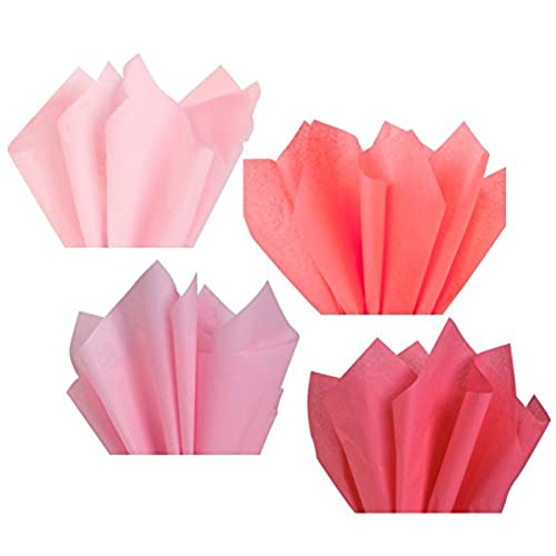 Light Pink Blush Rose Salmon Coral Assorted Mixed Color Multi Pack Tissue Paper For Flower Pom Poms Art Craft Wedding Bridal Baby Shower Party Gift Bag