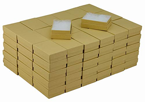 JPB Kraft Cotton Filled Jewelry Box #32 (Case of 100) 3.125 inches x 2.125 inches 100 Kraft Cotton Filled Jewelry
