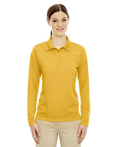 (Core 365 Pinnacle Ladies Performance Pique Polo Shirt , Campus Gold, Small)