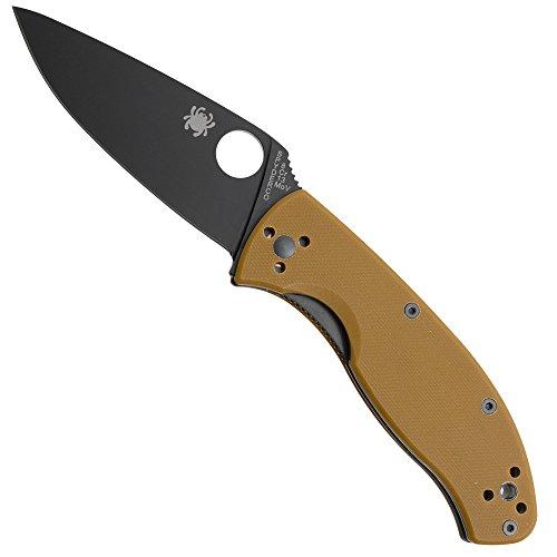 Spyderco SC122GPBBN Tenacious Brown G10 Plain Knife