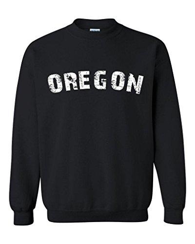 Blue Tees Oregon Home Of Portland Press Herald Fashion Salem Or People Couples Gifts Unisex Crewneck Sweatshirt Small Black