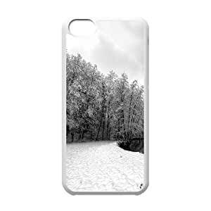 Forest River Winter IPhone 5C Cases, Iphone 5C Case Elegant Okaycosama - White
