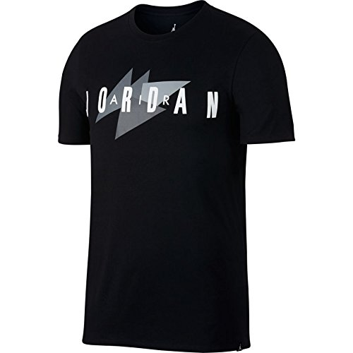 Jordan Air Brand Sportswear Men's Shortsleeve T-Shirt Black/White 908007-010 (Size XL) by Jordan