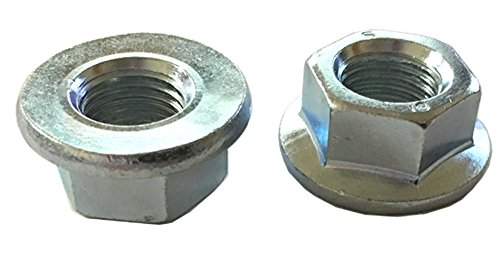 5 M14 - 1.5 Hexagon Flange Nut - Non-Serrated Class 10 Zinc. DIN 6923 / ISO 4161