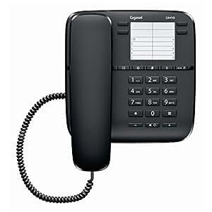 Gigaset Da410 - Teléfono fijo, color negro