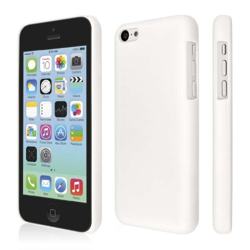 Empire KLIX Slim-Fit Hard Case for Apple iPhone 5C - Retail Packaging - Soft Touch White