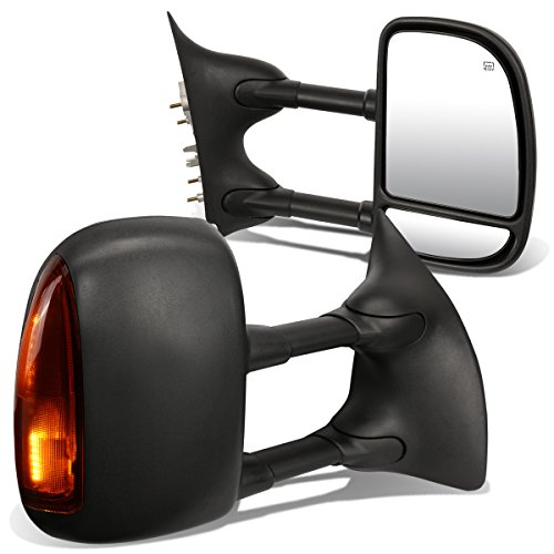 For Ford Super Duty Pair of Black Powered + Heated Glass + S