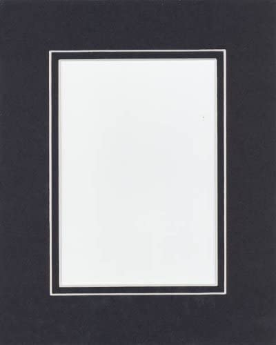 Bags Pack of 10 16x20 White//Black Double Mats Mattes with White Core Bevel Cut for 11x14 Photo Backing