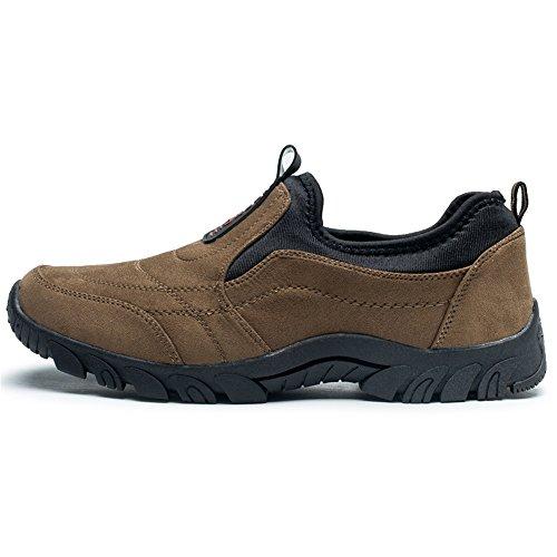 Uomo Scarpe Scarpe da on Sportive Casual Outdoor da Slip Uomo Piatto Sneaker con Tacco da Fashion Cricket Marrone Ux1W6fnEF
