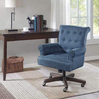 Madison Park Tomlin Office Chair with Blue Finish -