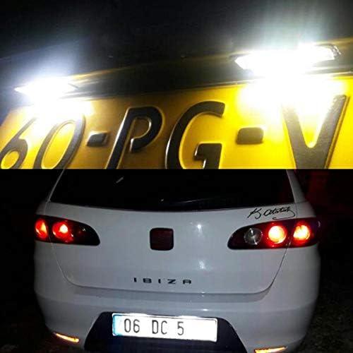 GOFORJUMP Super Bright 2X18SMD Canbus LED Plaque dimmatriculation pour 99-05 S//Manger Leon 1M 04-09 Altea Arosa Cordoba MK1 MK2 Ibiza Toledo 5P