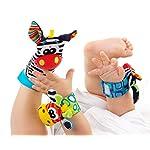Baby Rattle Neonato Sonagli Calzini da Polso a Sonaglio per Bambini, Simpatici Animaletti Developmental Soft Toys… Abbigliamento Baby Rattle 13