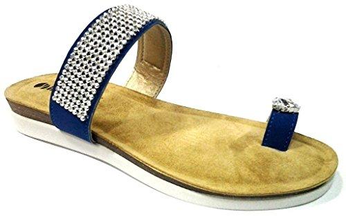 INBLU , Damen Sandalen blau denim 40 EU