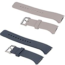 2pcs Large/Small Bands for Gear Fit2 Pro Watch, Replacement Soft Silicone Bands Straps for Samsung Gear Fit2 Pro Smart Fitness Band and Samsung Gear Fit2 Smartwatch D