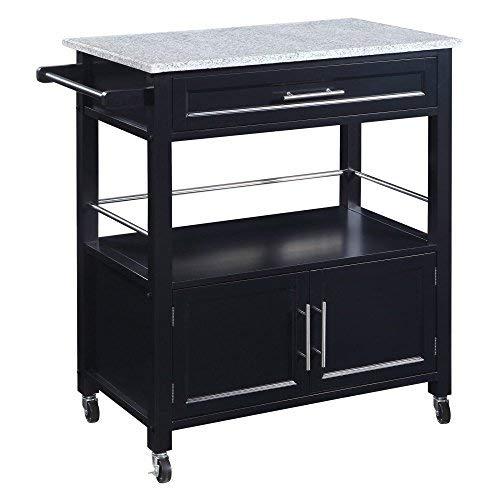 Linon Cameron Kitchen Cart with Granite Top (Granite Top Storage)