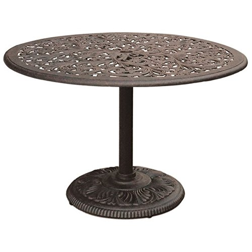 Darlee Series 80 Patio 42″ Round Dining Table in Antique Bronze Review