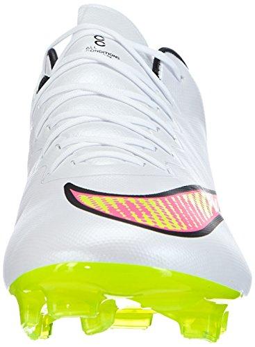 Nike Mercurial Vapor X FG - Zapatillas de fútbol para hombre White (white/volt-hyper Pink-black 170)