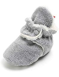 Baby Boys Girls Fleece Booties Non-Slip Bottom Warm Winter Socks Infant Crib Shoes First Birthday Gift