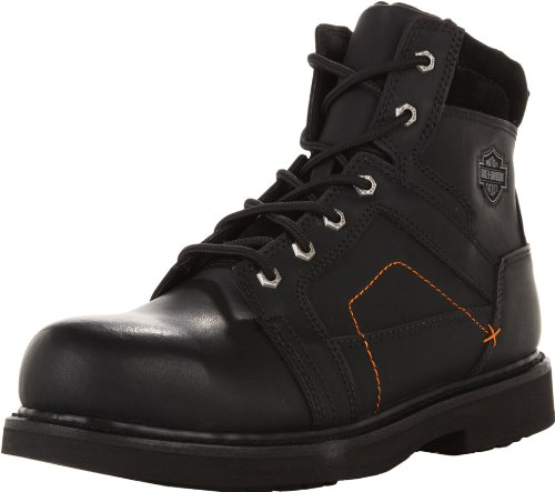 D95326 Lace Shk 5 Blk Davidson Abs 7 Harley Steel Black Black Toe Up Pete 4zP58q5Rw