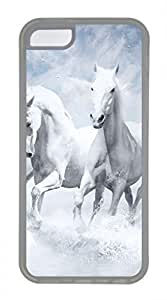 iPhone 5c case, Cute White Horses iPhone 5c Cover, iPhone 5c Cases, Soft Clear iPhone 5c Covers