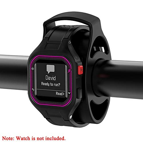 nattiness Bicycle Watch Mount Bicycle Watch Holder Bicycle Handlebar for Garmin Approach S1 S3 Fenix Forerunner GPS Watch
