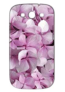 LJF phone case Case Fun Samsung Galaxy S3 (I9300) Case - Vogue Version - 3D Full Wrap - Pink Flowers