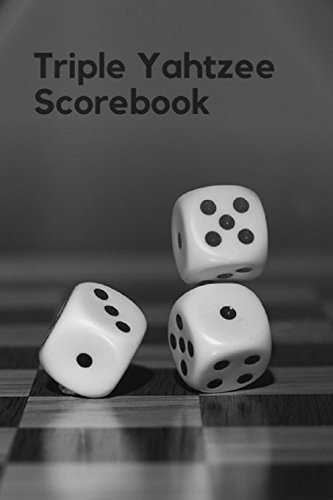 Triple Yahtzee Scorebook: Ultimate Score Sheet of Yahtzee Dice Games, 6x9 inch, 100 pages (Yahtzee Games) (Volume ()