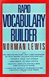 Rapid Vocabulary Builder, Norman Lewis, 0399514007