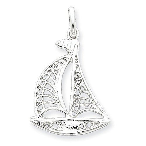 (West Coast Jewelry Sterling Silver Filigree Sailboat)