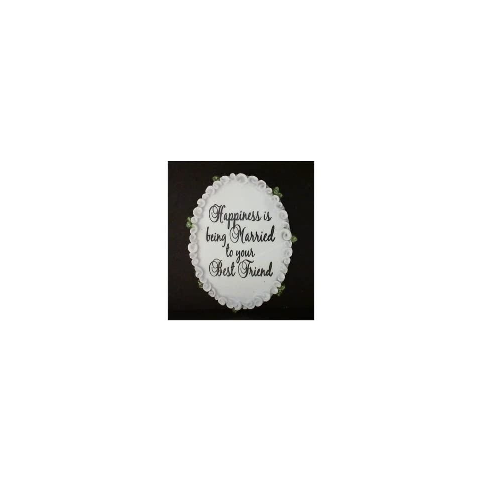 WR Oval Married Best Friend Personalized Gift Tag with Magnet