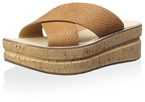 Belle by Sigerson Morrison Women's Almas Flatform Sandal, Medium Brown, 7 M US